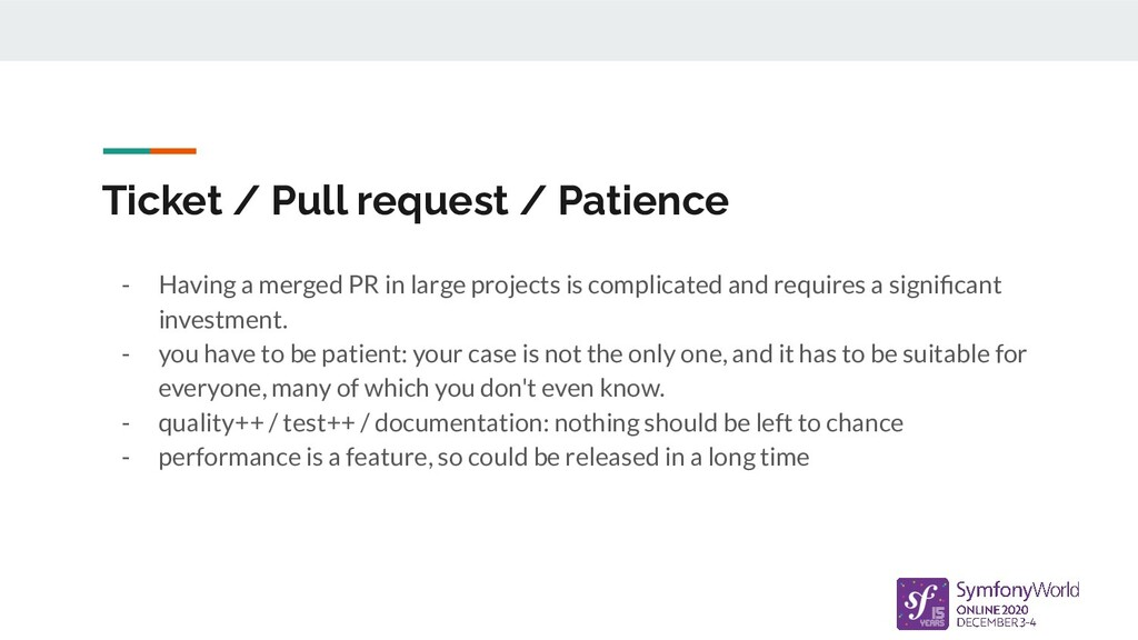 Ticket / Pull request / Patience - Having a mer...