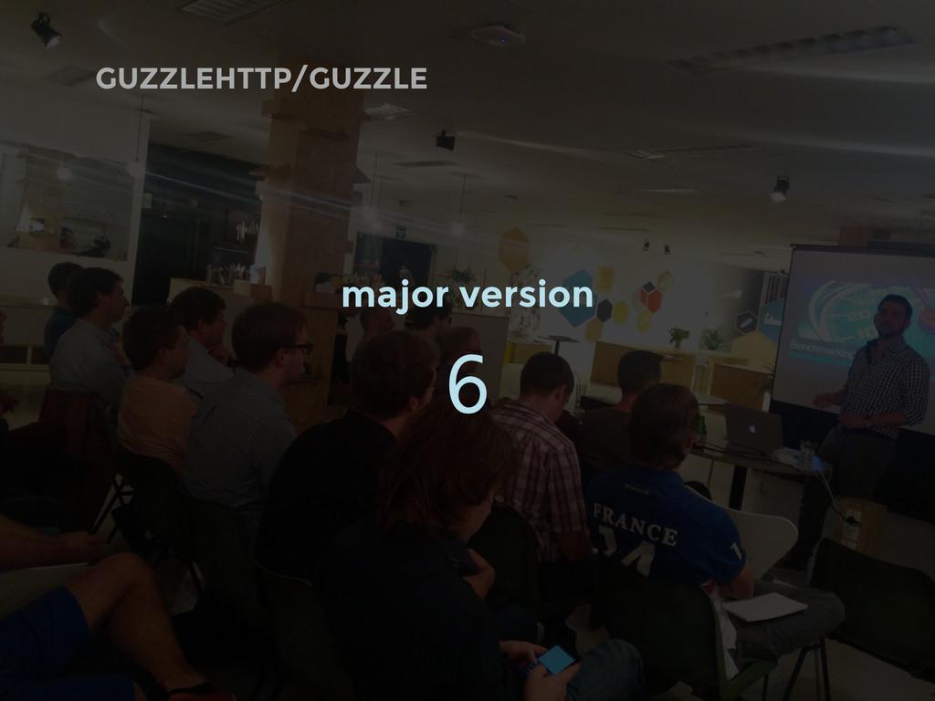 GUZZLEHTTP/GUZZLE major version 6