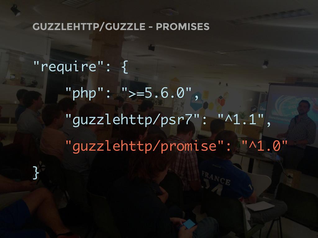 "GUZZLEHTTP/GUZZLE - PROMISES ""require"": { ""php""..."