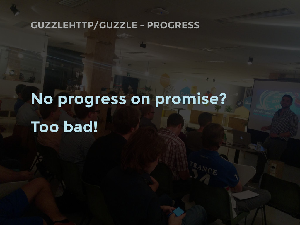 GUZZLEHTTP/GUZZLE - PROGRESS No progress on pro...