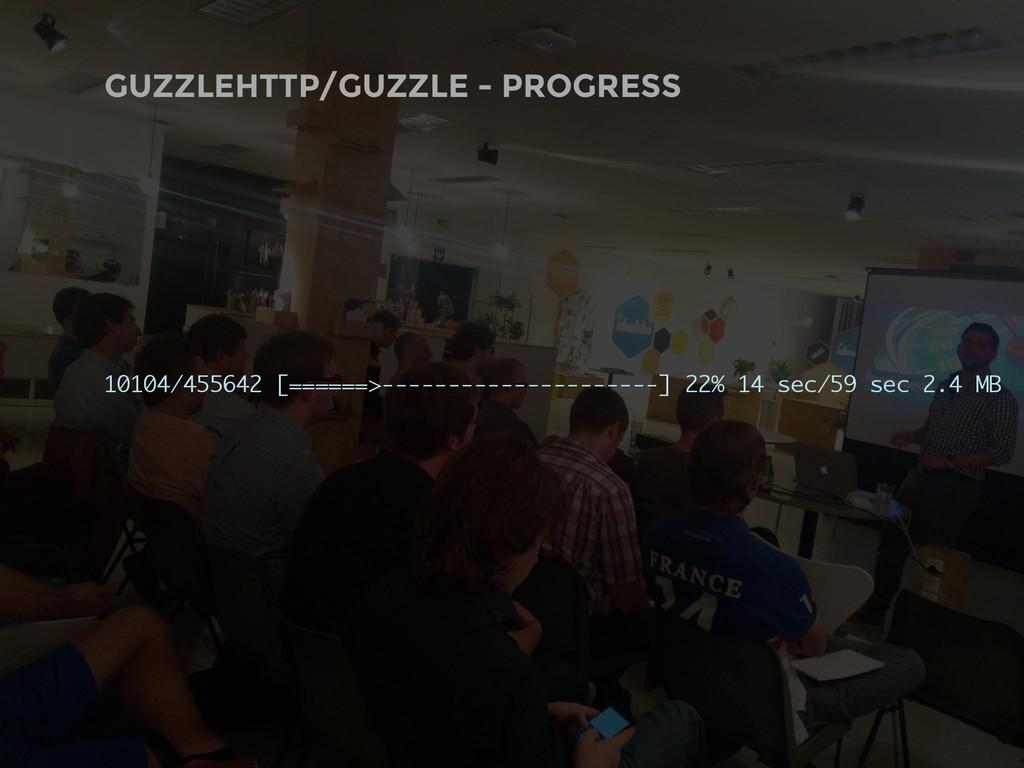 GUZZLEHTTP/GUZZLE - PROGRESS 10104/455642 [====...