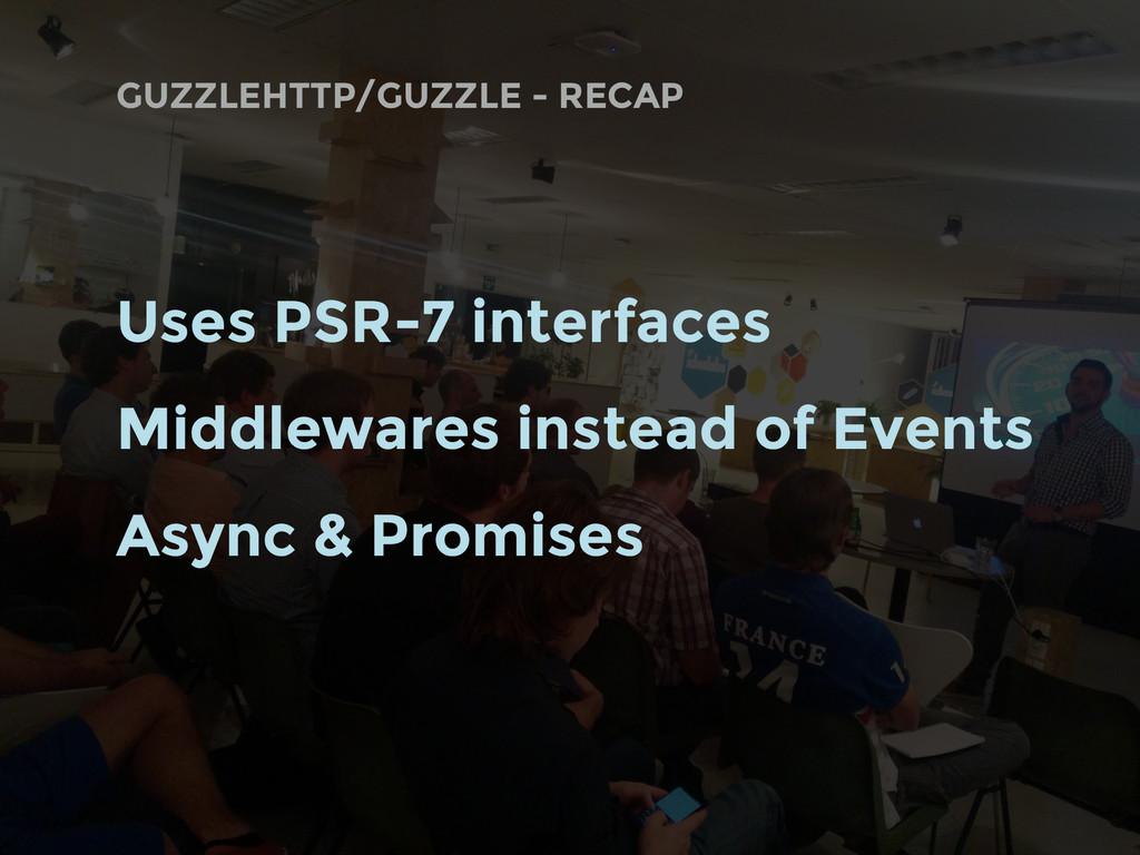 GUZZLEHTTP/GUZZLE - RECAP Uses PSR-7 interfaces...
