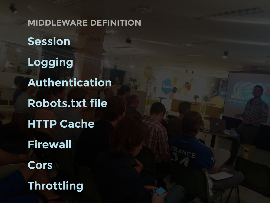 MIDDLEWARE DEFINITION Session Logging Authentic...