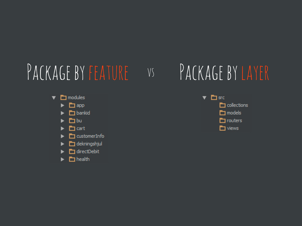 Package by feature Package by layer vs