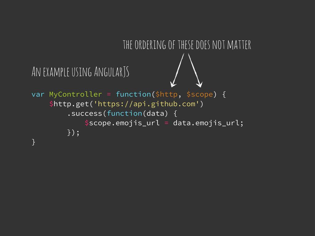 var MyController = function($http, $scope) { $h...