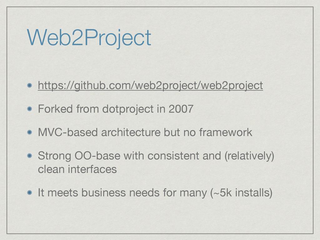 Web2Project https://github.com/web2project/web2...