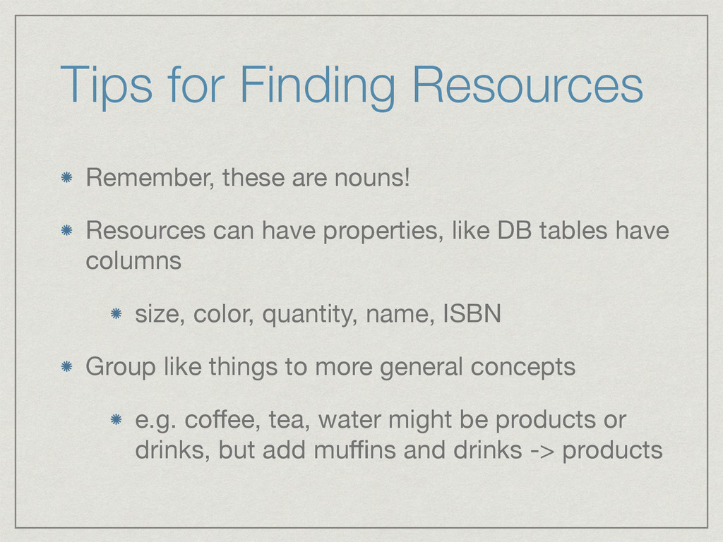 Tips for Finding Resources Remember, these are ...