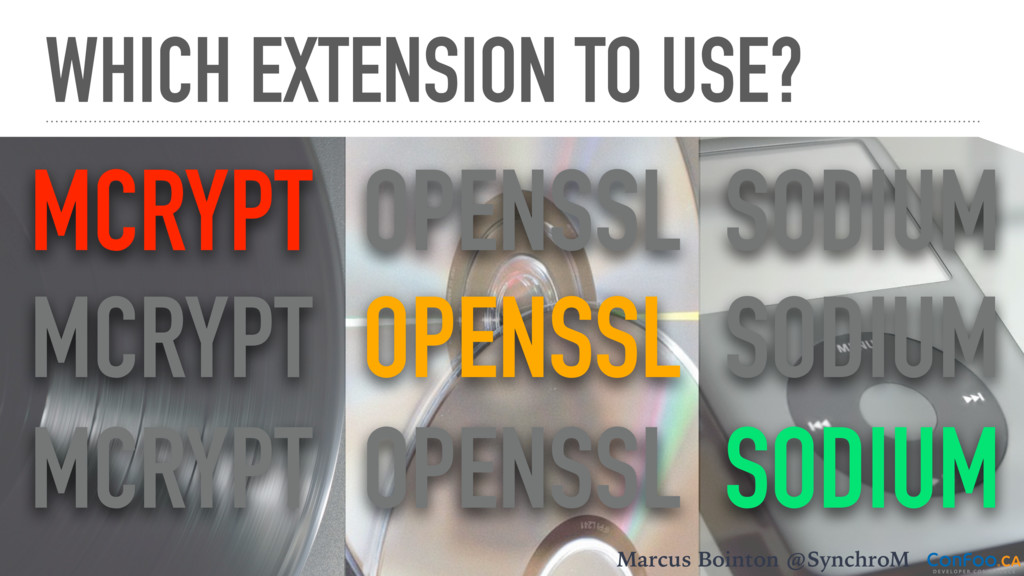 WHICH EXTENSION TO USE? Marcus Bointon @Synchro...