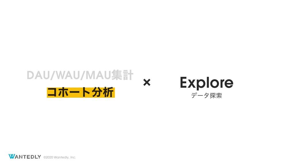 ©2020 Wantedly, Inc. DAU/WAU/MAUूܭ × Explore σʔ...