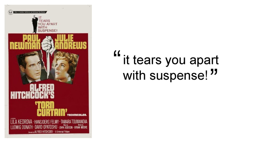 """it tears you apart with suspense! """" """""""