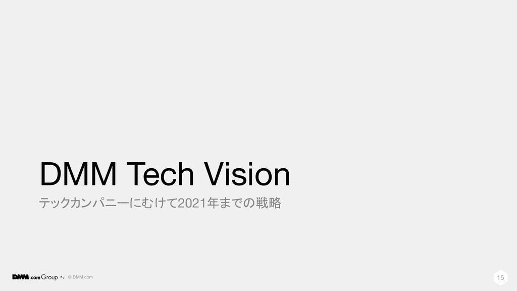 © DMM.com DMM Tech Vision テックカンパニーにむけて2021年までの戦...