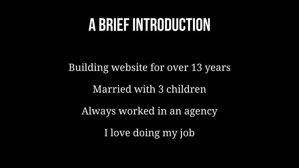 A brief introduction Building website for over ...