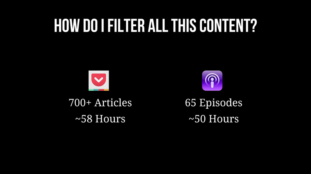 HOW DO I FILTER ALL THIS CONTENT? 700+ Articles...