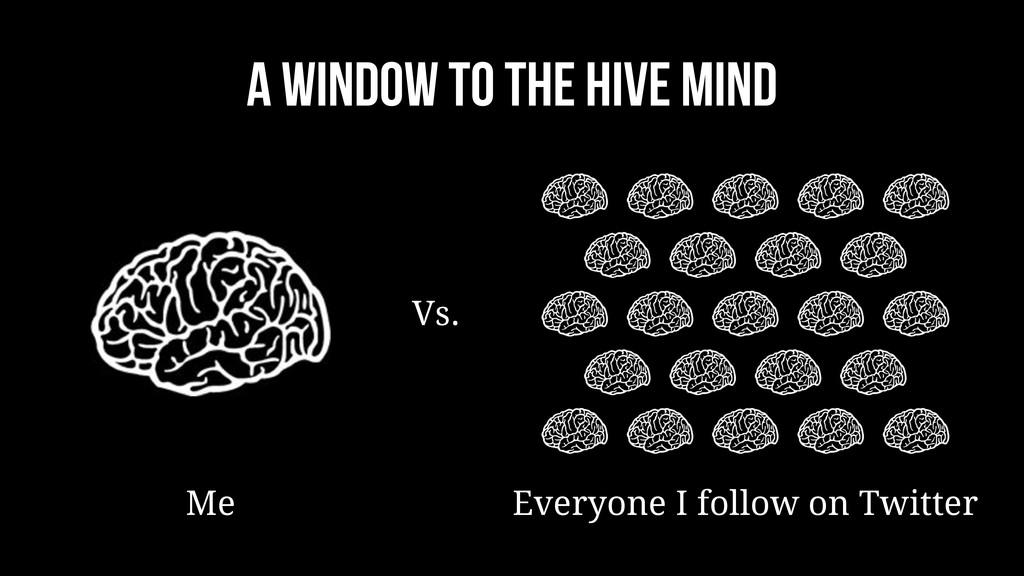A window to the hive mind Me Vs. Everyone I fol...