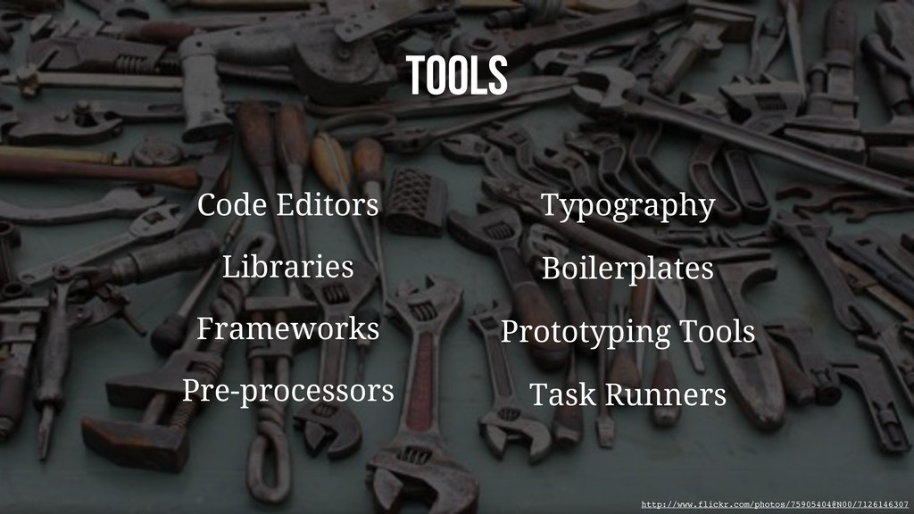 TOOLS Typography Boilerplates Pre-processors Li...