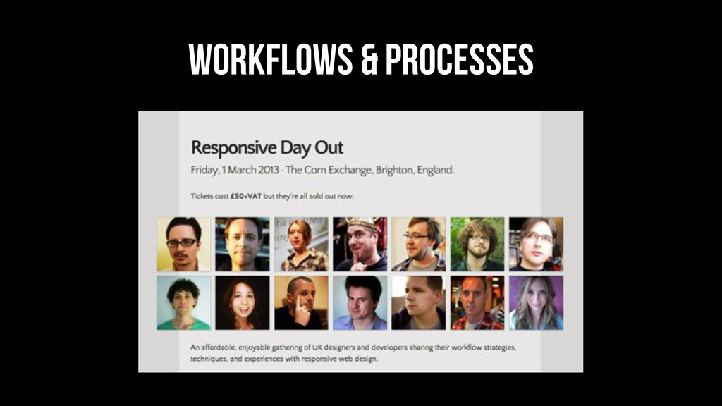 Workflows & processes