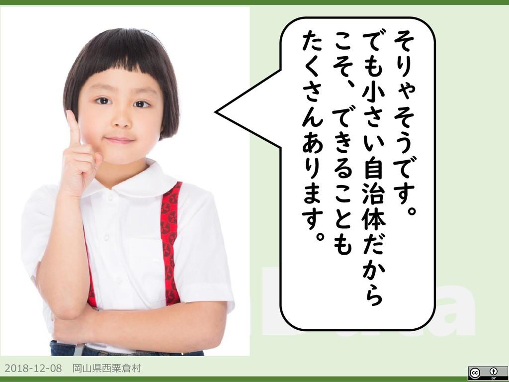 2018-12-08 岡山県西粟倉村 OpenData そ り ゃ そ う で す 。 で も...