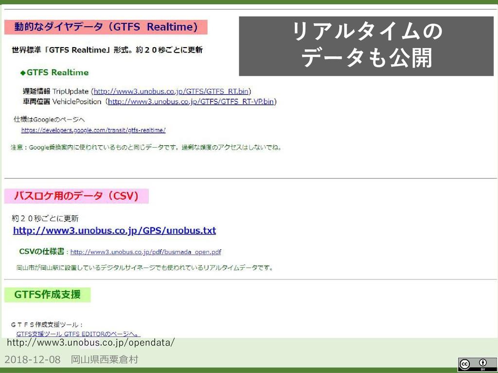 2018-12-08 岡山県西粟倉村 OpenData http://www3.unobus....