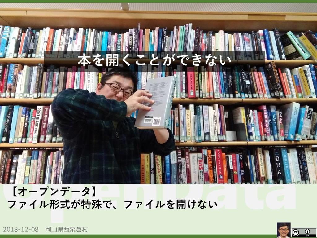 2018-12-08 岡山県西粟倉村 OpenData 本を開くことができない 【オープンデー...