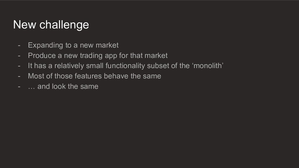 New challenge - Expanding to a new market - Pro...