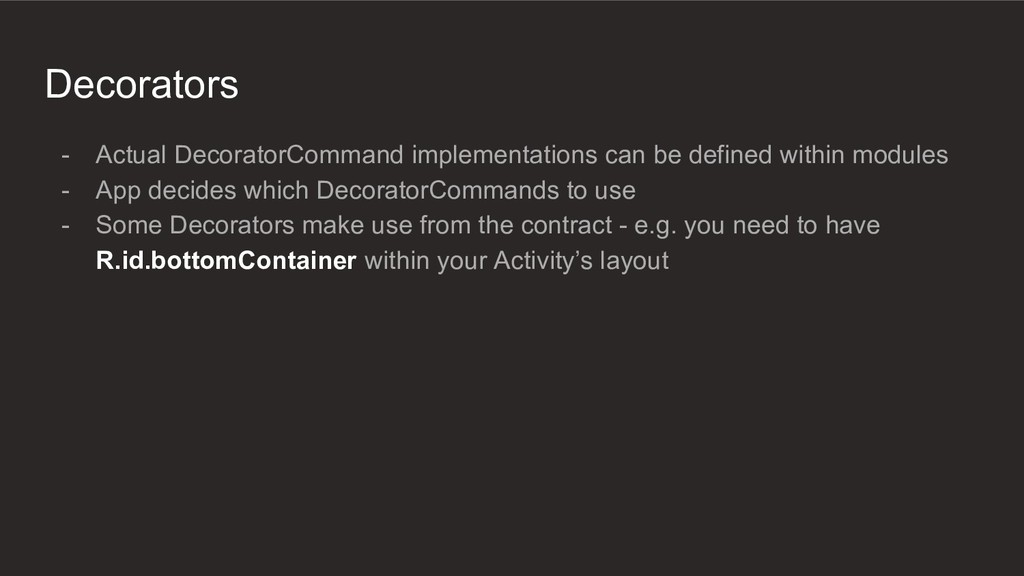 Decorators - Actual DecoratorCommand implementa...