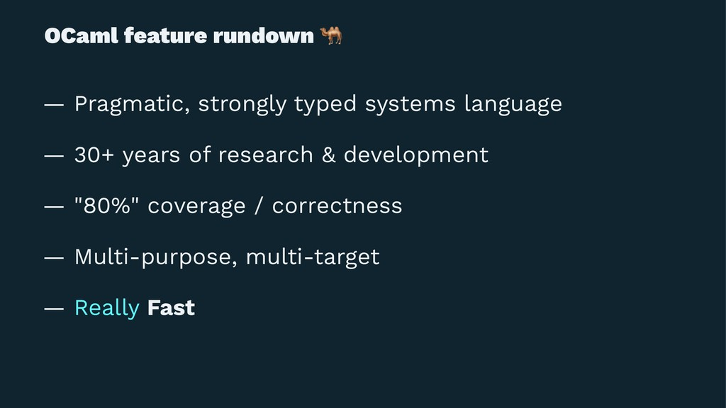 OCaml feature rundown ! — Pragmatic, strongly t...