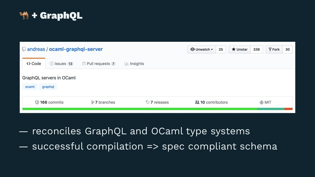 ! + GraphQL — reconciles GraphQL and OCaml type...