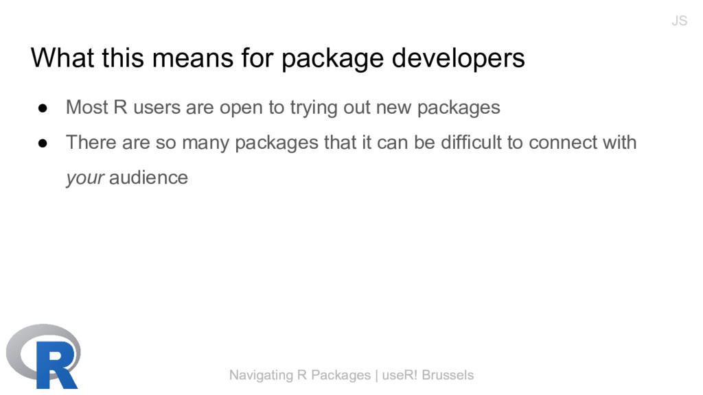 Navigating R Packages | useR! Brussels What thi...