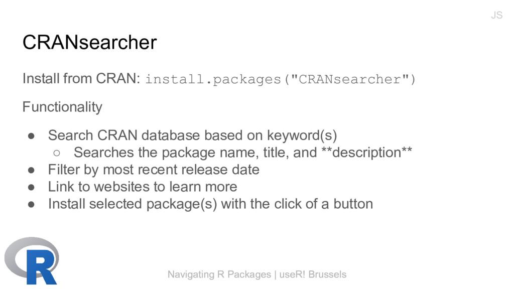 Navigating R Packages | useR! Brussels CRANsear...