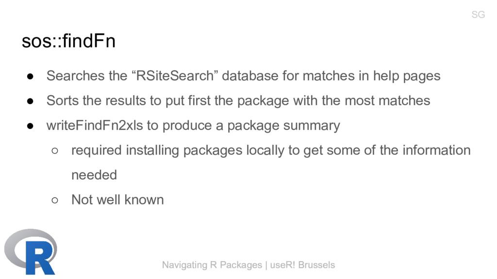 Navigating R Packages | useR! Brussels sos::fin...