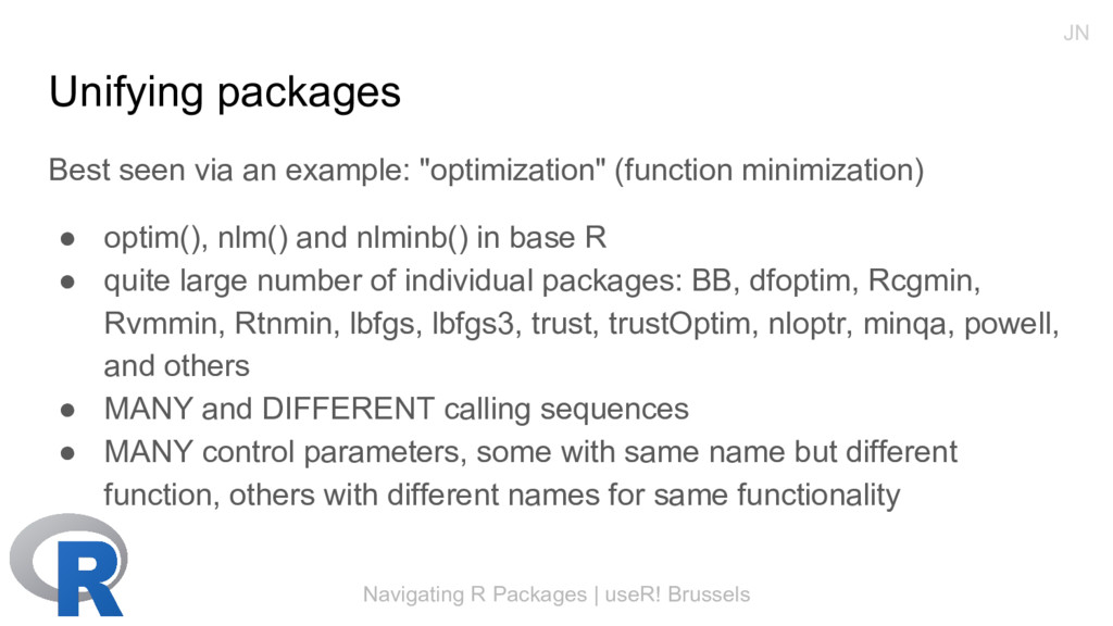 Navigating R Packages | useR! Brussels Unifying...