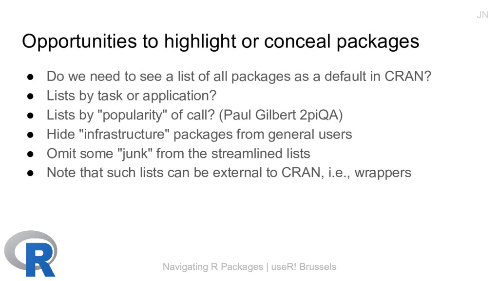 Navigating R Packages | useR! Brussels Opportun...