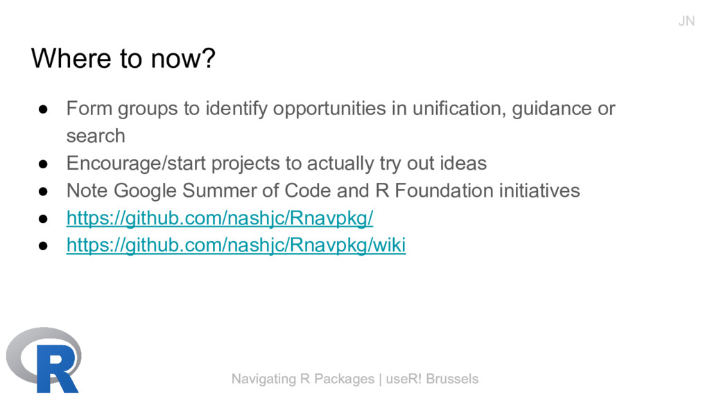 Navigating R Packages | useR! Brussels Where to...