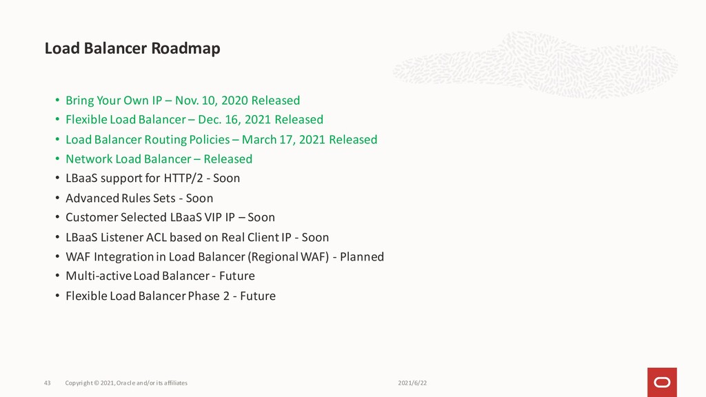 • Bring Your Own IP – Nov. 10, 2020 Released • ...