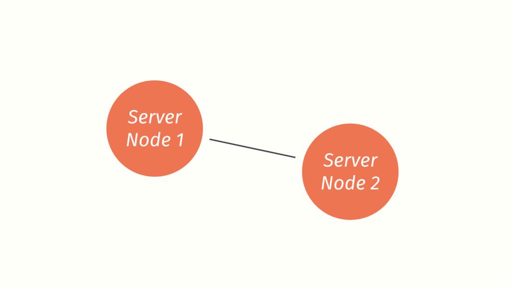 Server Node 1 Server Node 2