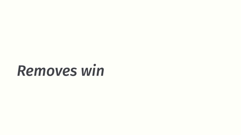 Removes win