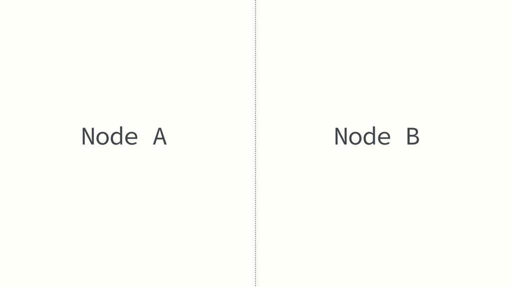 Node A Node B
