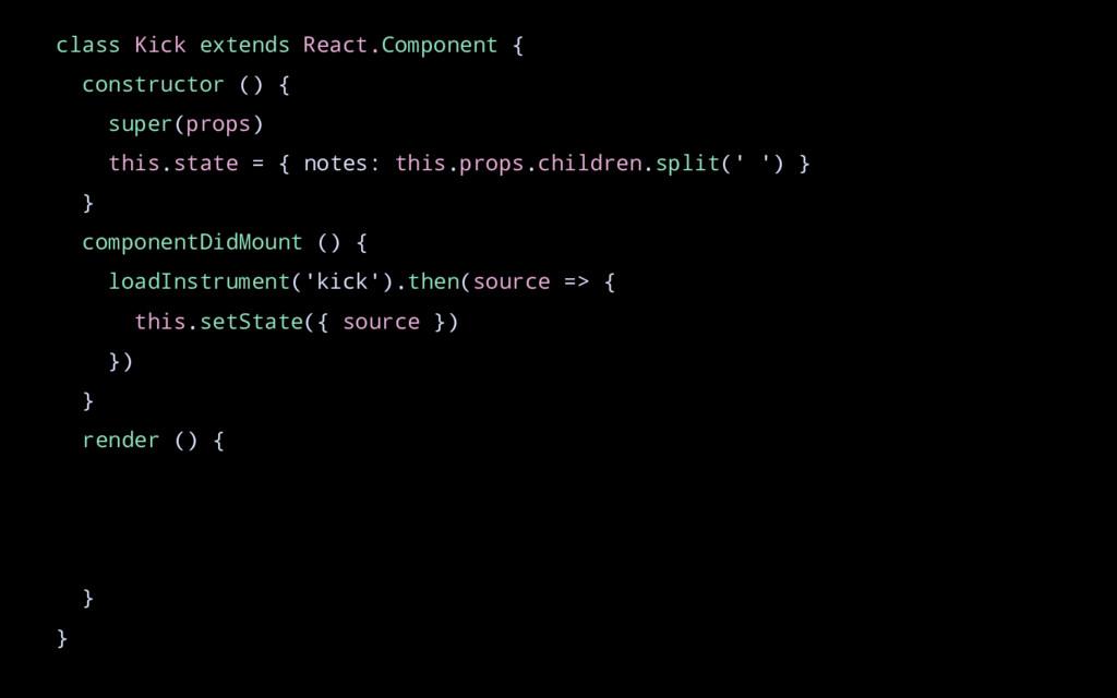 class Kick extends React.Component { constructo...