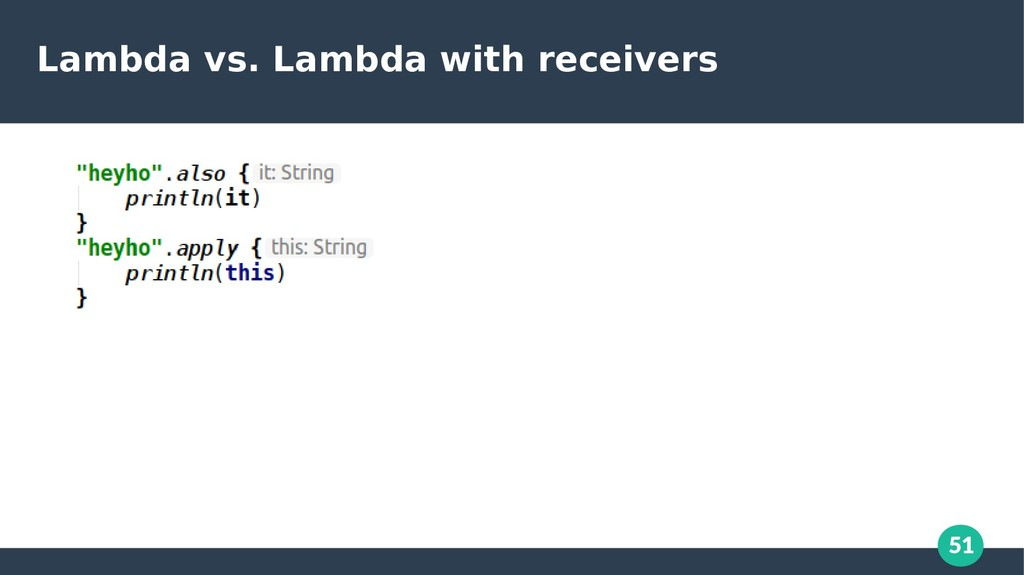 51 Lambda vs. Lambda with receivers