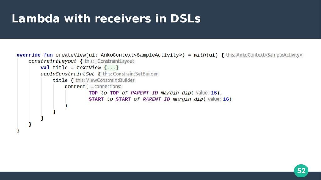 52 Lambda with receivers in DSLs