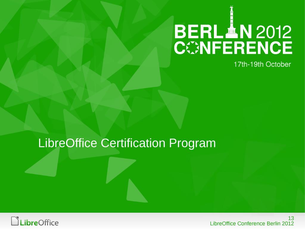 13 LibreOffice Conference Berlin 2012 LibreOffi...