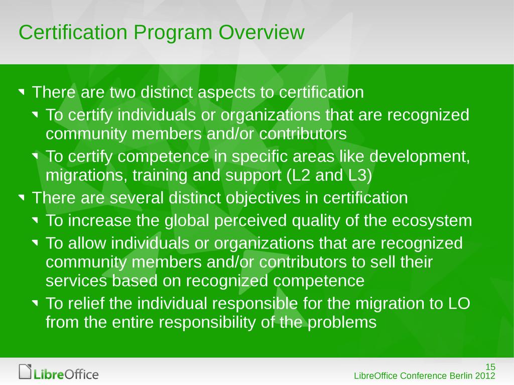 15 LibreOffice Conference Berlin 2012 Certifica...