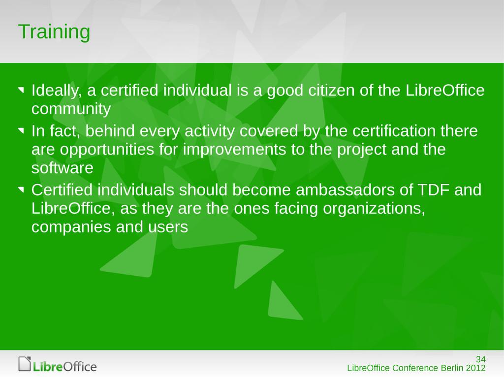 34 LibreOffice Conference Berlin 2012 Training ...