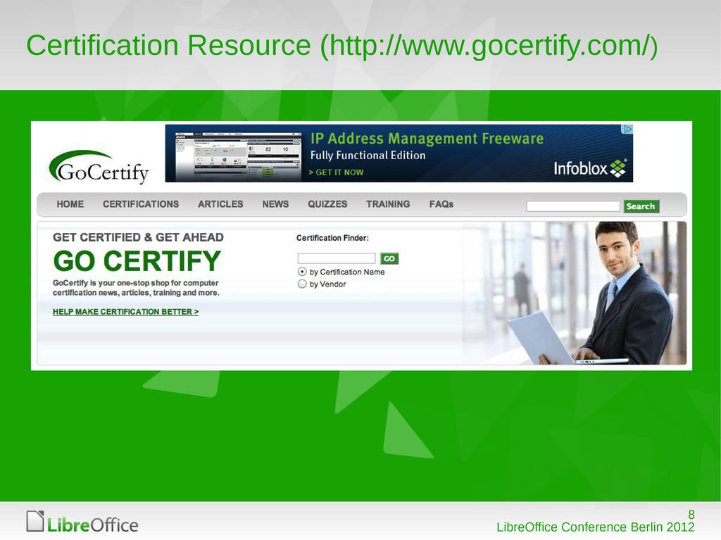 8 LibreOffice Conference Berlin 2012 Certificat...