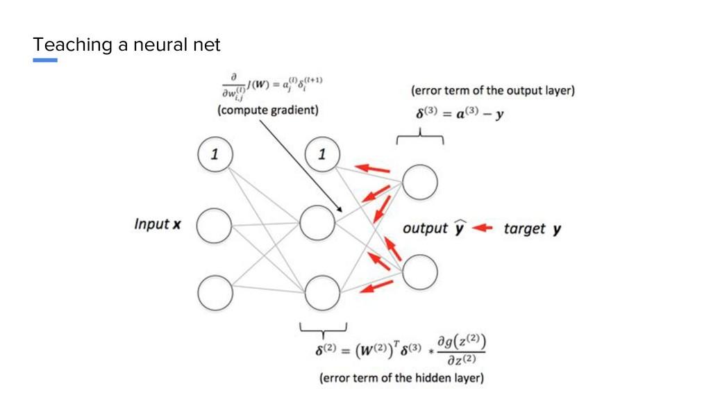 Teaching a neural net