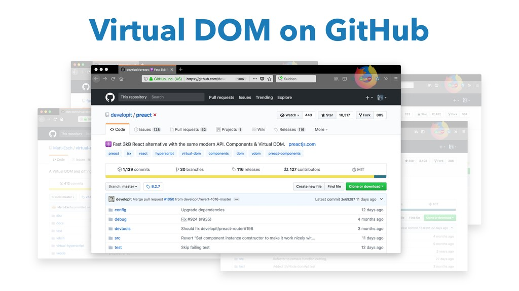 Virtual DOM on GitHub