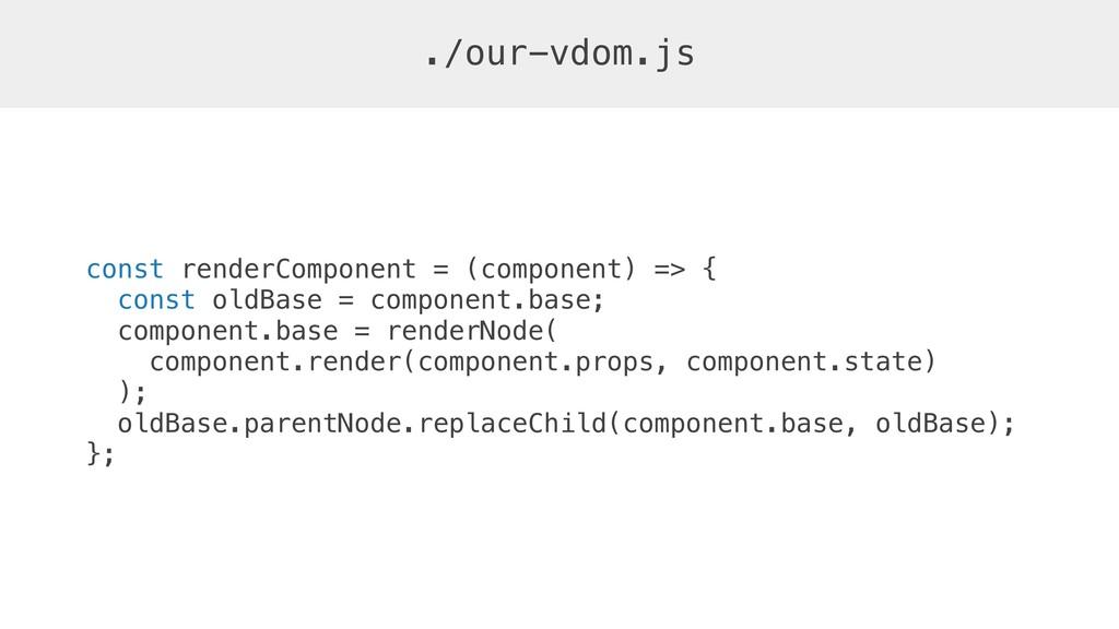 const renderComponent = (component) => { const ...