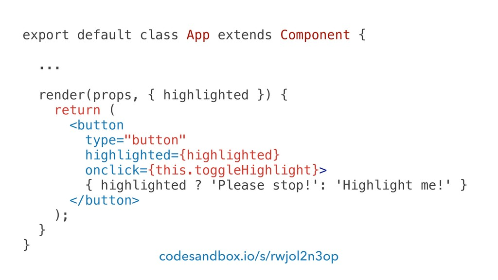 export default class App extends Component { .....
