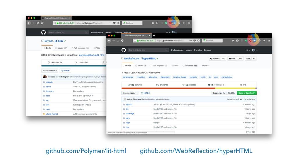 github.com/Polymer/lit-html github.com/WebRefle...