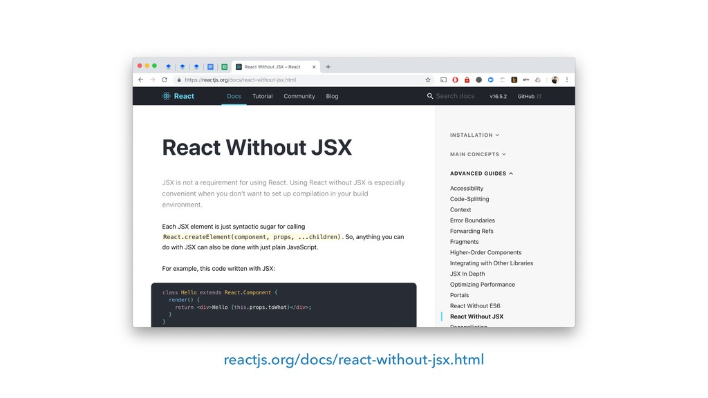 reactjs.org/docs/react-without-jsx.html